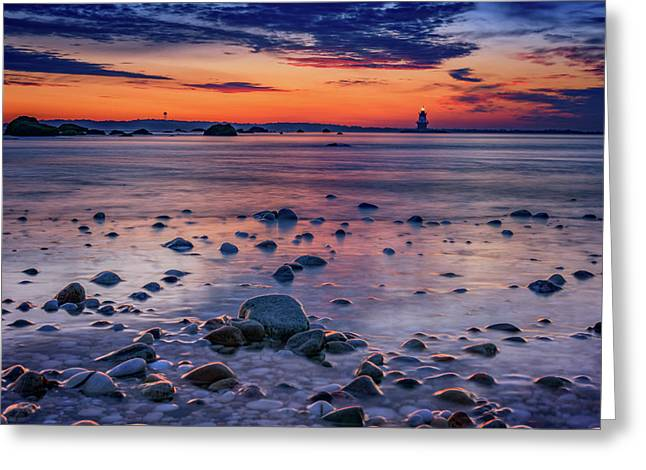 Dawn At Orient Point Greeting Card by Rick Berk