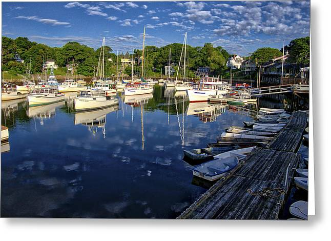 Dawn At Perkins Cove - Maine Greeting Card by Steven Ralser