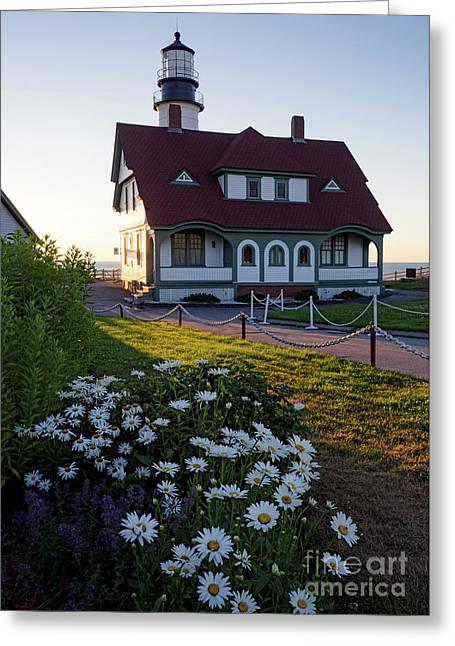 Dawn At Portland Head Light, Cape Elizabeth, Maine  -08614 Greeting Card