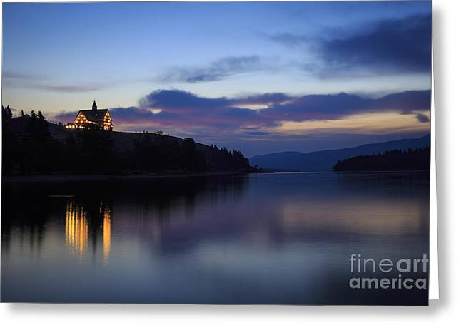 Dawn At Prince Of Wales Hotel Greeting Card by Dennis Hedberg