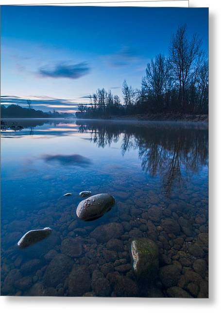 Dawn At River Greeting Card