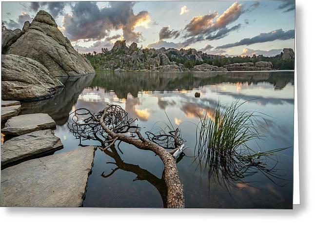 Dawn At Sylvan Lake Greeting Card by Adam Romanowicz