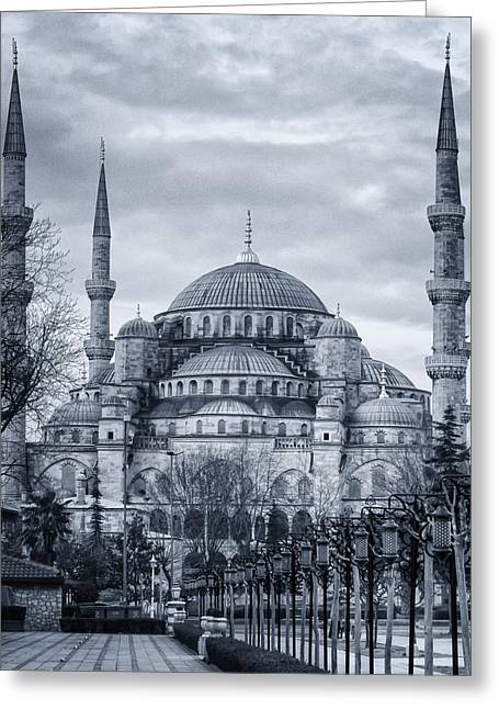Dawn At The Blue Mosque Greeting Card by Joan Carroll
