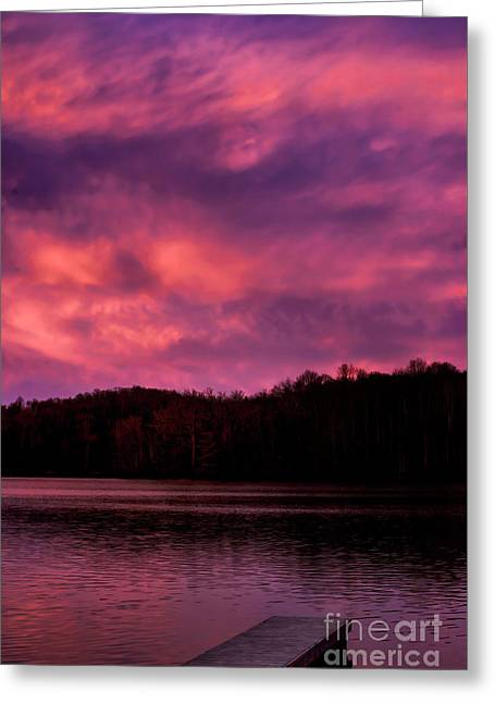 Greeting Card featuring the photograph Dawn At The Dock by Thomas R Fletcher