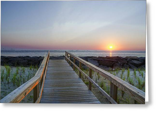 Dawn At Townsends Inlet Greeting Card by Bill Cannon