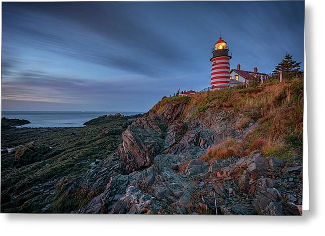 Dawn At West Quoddy Head Greeting Card