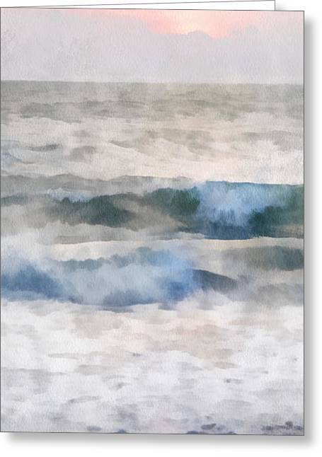 Dawn Beach Greeting Card by Francesa Miller