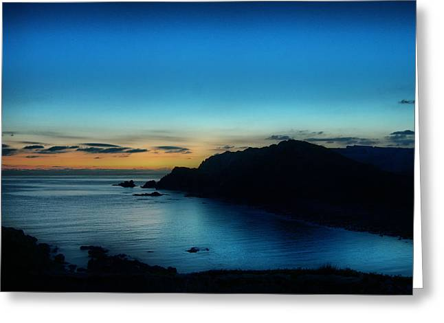 Dawn Blue In Mediterranean Island Of Minorca By Pedro Cardona Greeting Card by Pedro Cardona
