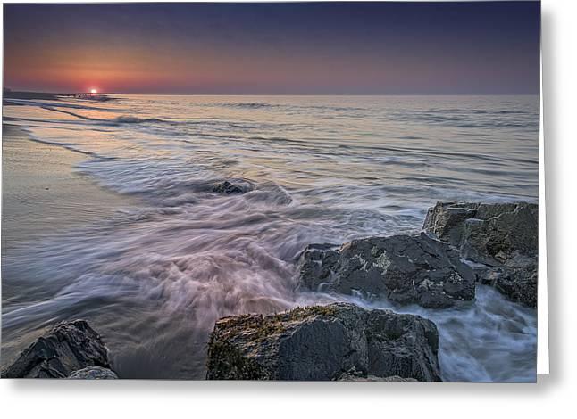 Dawn Breaks At Cape May Greeting Card by Rick Berk