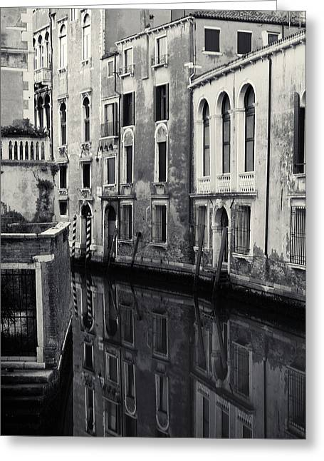 Greeting Card featuring the photograph Dawn Canal, Venice, Italy by Richard Goodrich