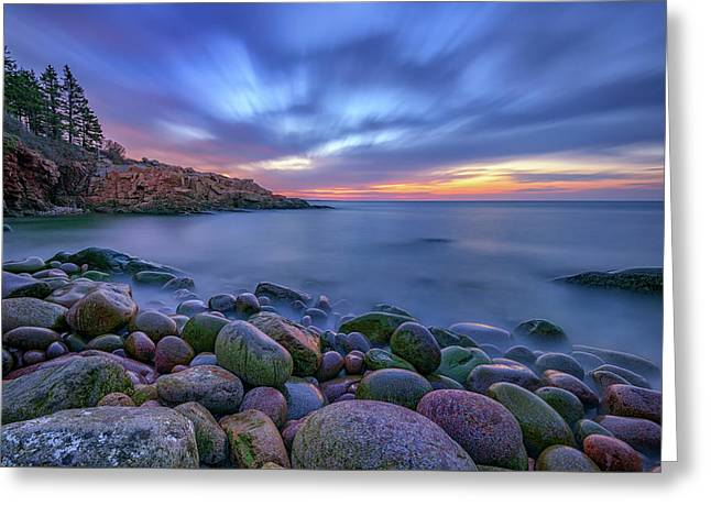 Dawn In Monument Cove Greeting Card by Rick Berk