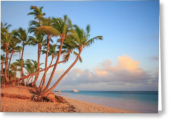 Greeting Card featuring the photograph Dawn In Punta Cana by Adam Romanowicz