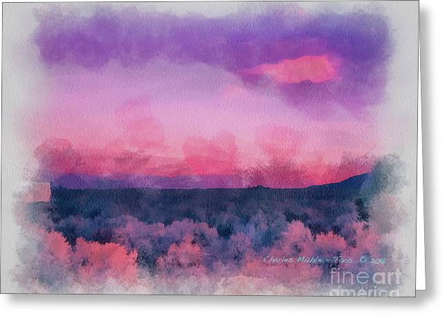 Dawn In Taos In Aquarelle Greeting Card