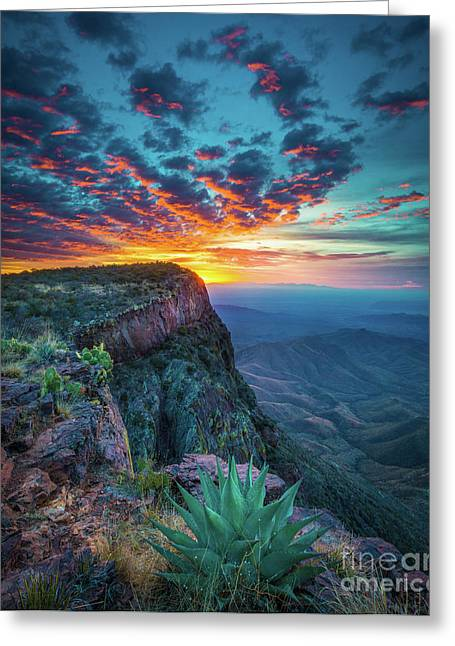 Dawn In The Chisos Greeting Card