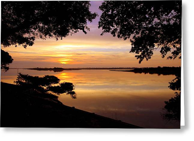 Calm Waters Greeting Cards - Dawn Greeting Card by Karen Wiles