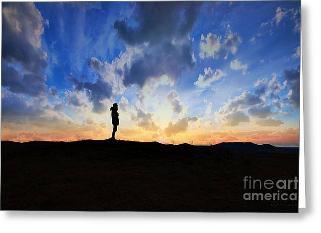Dawn Of A New Day Sunrise 140a Greeting Card by Ricardos Creations