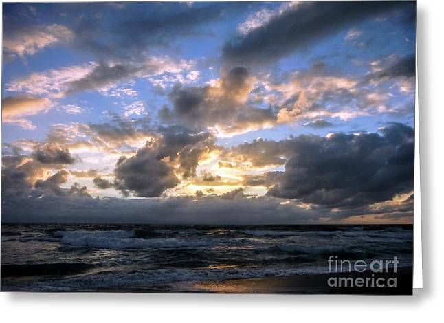 Dawn Of A New Day Treasure Coast Florida Seascape Sunrise 138 Greeting Card