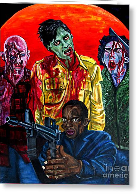 Dawn Of The Dead Greeting Card by Jose Mendez