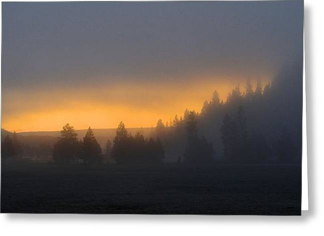 Dawn On A Misty Morning Greeting Card