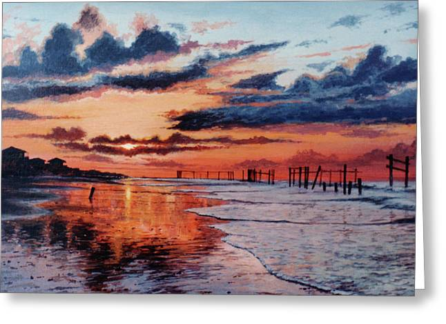 Dawn On Crystal Beach Greeting Card
