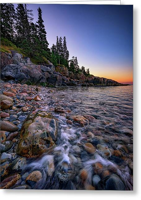 Dawn On Little Hunter's Beach, Acadia Greeting Card by Rick Berk