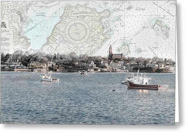 Dawn On Marblehead Harbor Greeting Card by Jeff Folger
