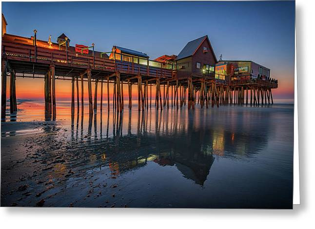 Dawn On Old Orchard Beach Greeting Card