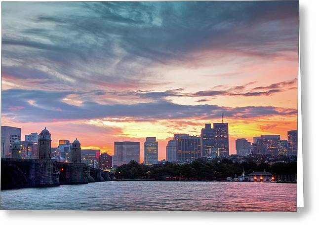 Charles River Greeting Cards - Dawn on the Charles River Greeting Card by Susan Cole Kelly