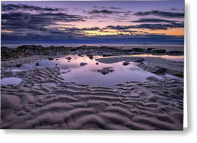 Dawn On Wells Beach Greeting Card by Rick Berk