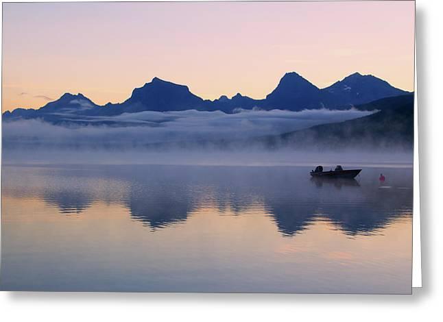 Dawn Over Lake Mcdonald Greeting Card
