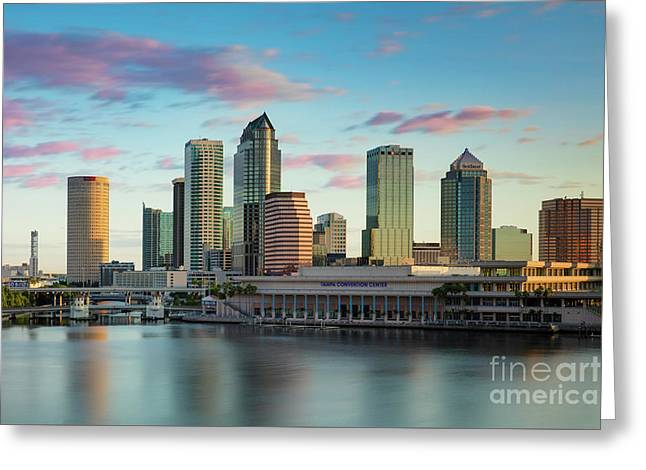 Dawn Over Tampa Florida Greeting Card by Brian Jannsen