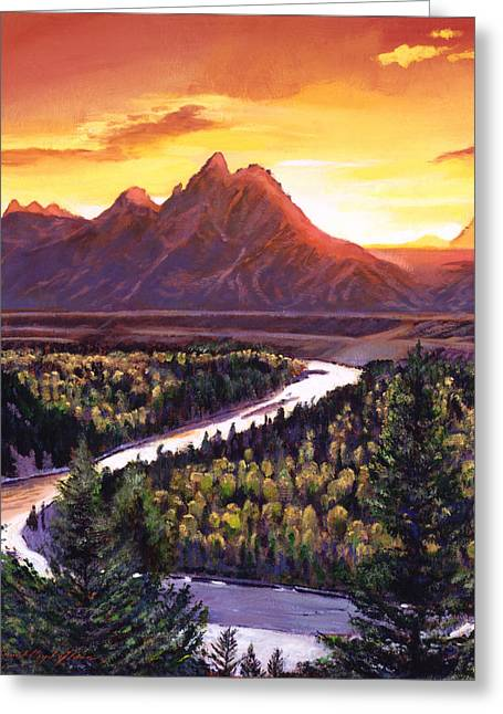 Dawn Over The Grand Tetons Greeting Card