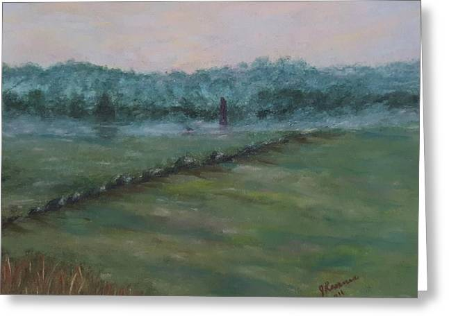 Dawn Over The Railroad Cut-gettysburg Greeting Card by Joann Renner