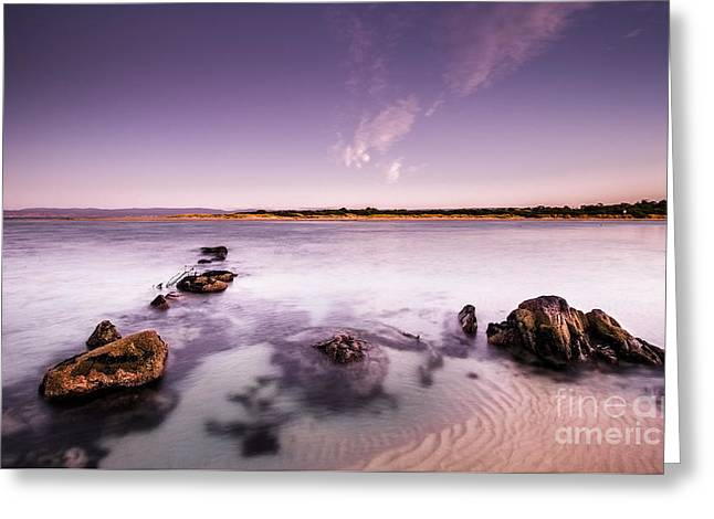 Dawn Sea Landscape Greeting Card by Jorgo Photography - Wall Art Gallery