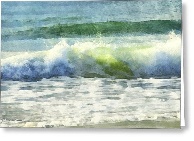 Dawn Wave Greeting Card by Francesa Miller