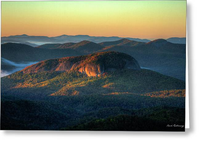 Dawns Early Light Looking Glass Rock Sunrise Appalachian  Mountains Art Greeting Card