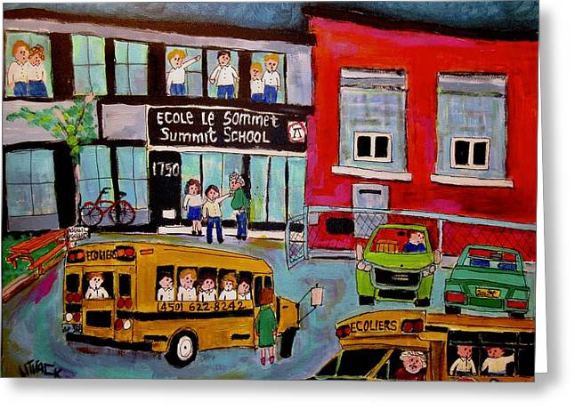 Day At Summit School Greeting Card by Michael Litvack