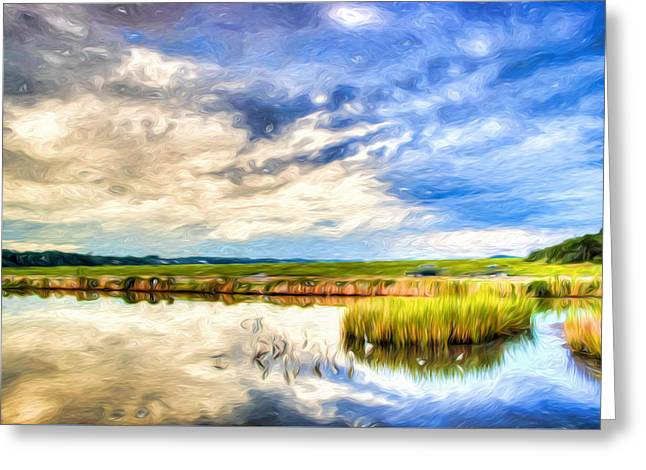Day At The Marsh Greeting Card