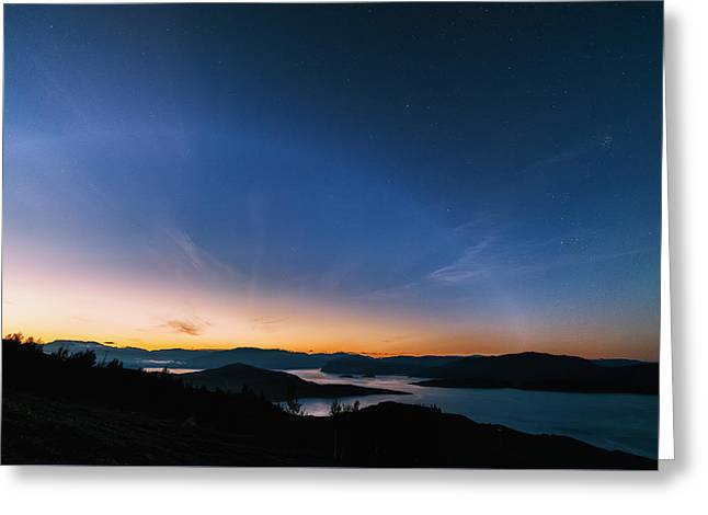 Day Becomes Night Greeting Card by Tor-Ivar Naess