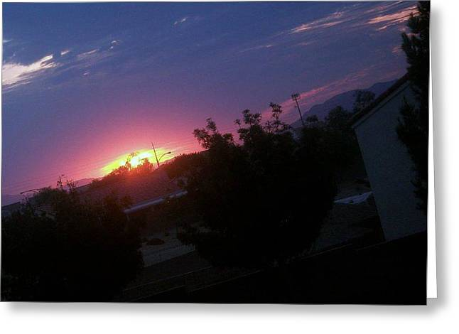 Day Break Greeting Card by Jacqueline Lewis