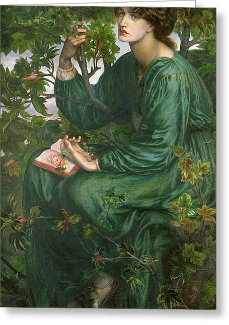 Reverie Paintings Greeting Cards - Day Dream Greeting Card by Dante Charles Gabriel Rossetti