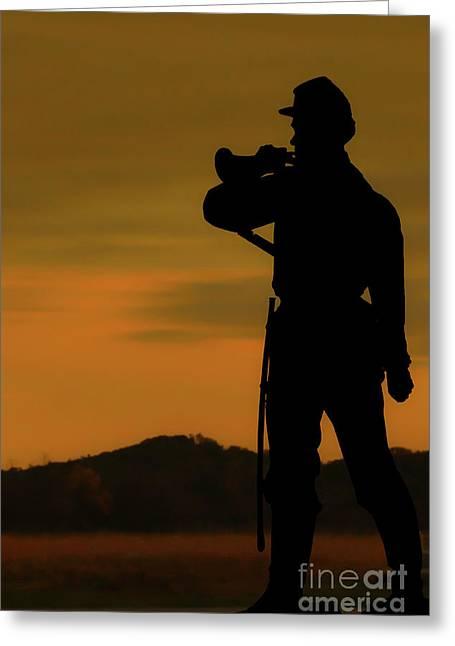 Day Is Done Gettysburg Battlefield Greeting Card by Randy Steele