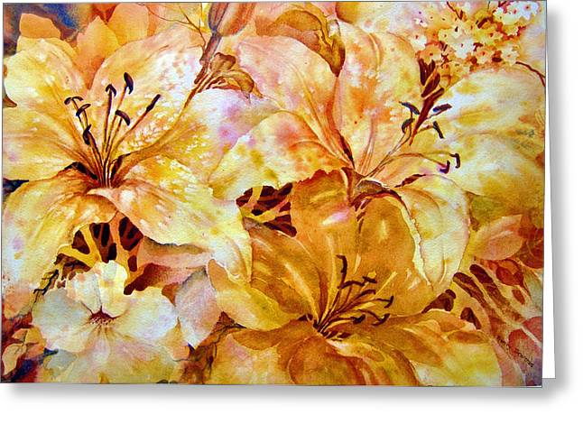 Day-lilies Greeting Card by Nancy Newman