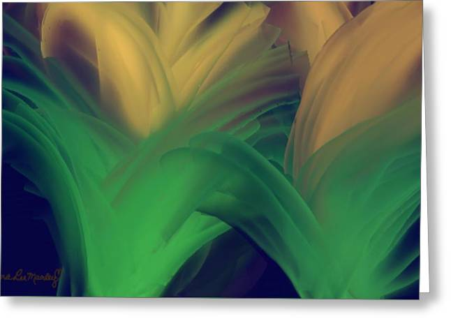 Day Lillies Greeting Card by Gina Lee Manley
