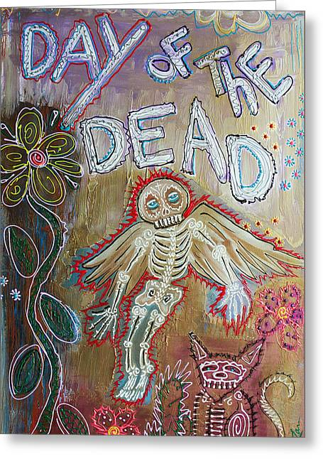 Day Of The Dead - Ascension Greeting Card by Laura Barbosa