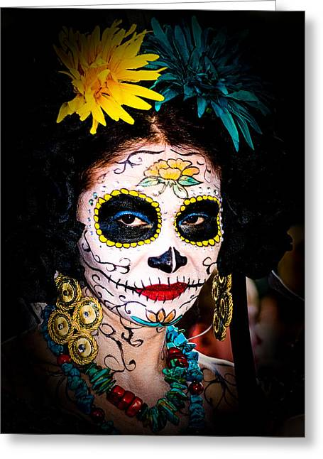 Day Of The Dead Eyes Greeting Card
