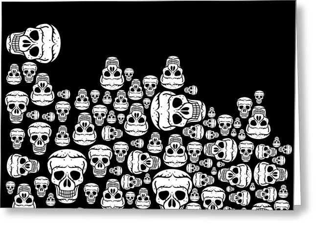 Day Of The Dead Greeting Card by Mark Ashkenazi