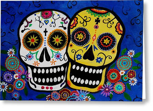 Day Of The Dead Sugar Greeting Card