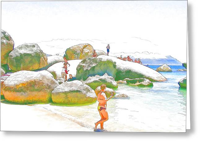 Day Off At Boulders Greeting Card by Jan Hattingh