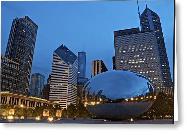 Daybreak At Cloud Gate Greeting Card by Frozen in Time Fine Art Photography